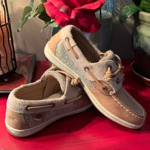 Like New! Sperry slip on boat shoes!
